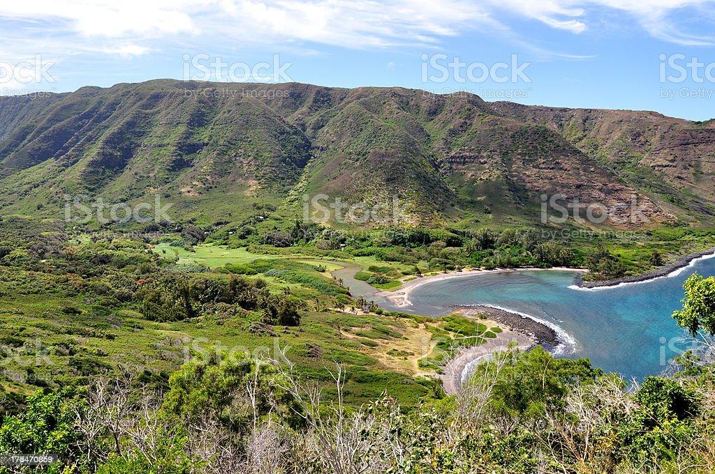 Halawa Bay on Molokai - Hawaii, USA stock photo