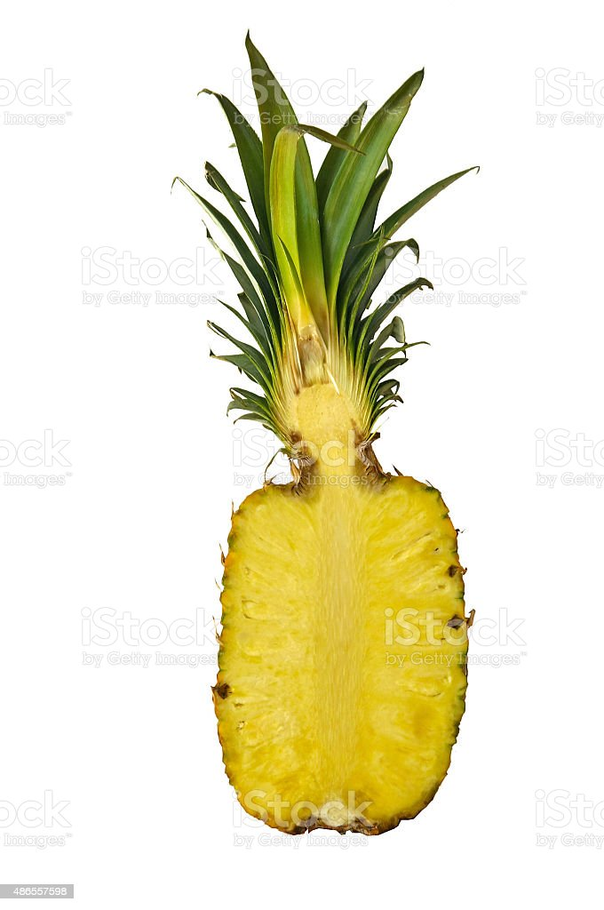 halbierte Ananas stock photo