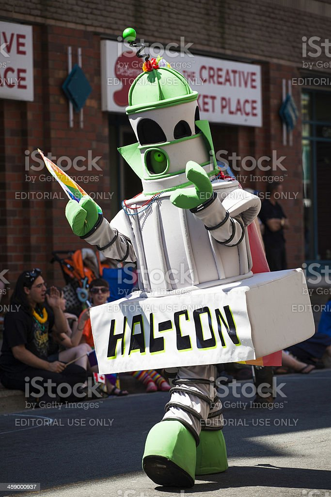 Hal-Con Character in Parade stock photo