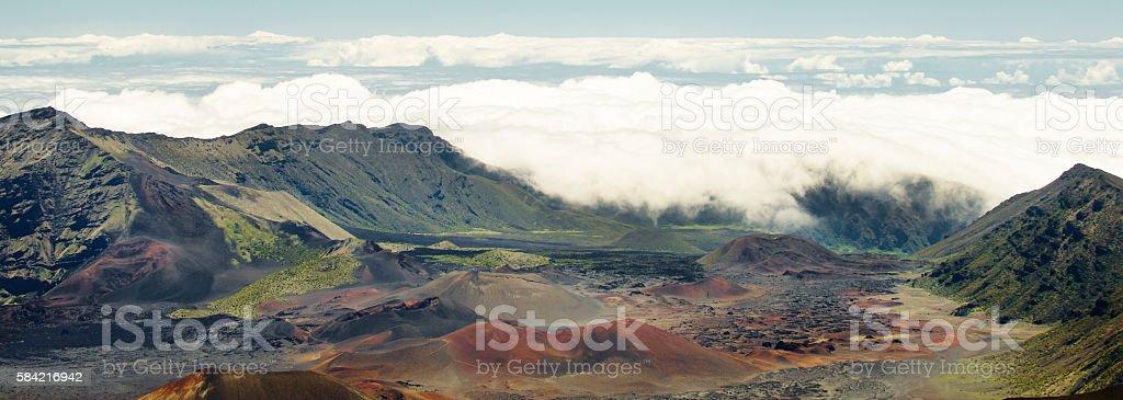 Haleakala Crater in Lahaina Hawaii stock photo