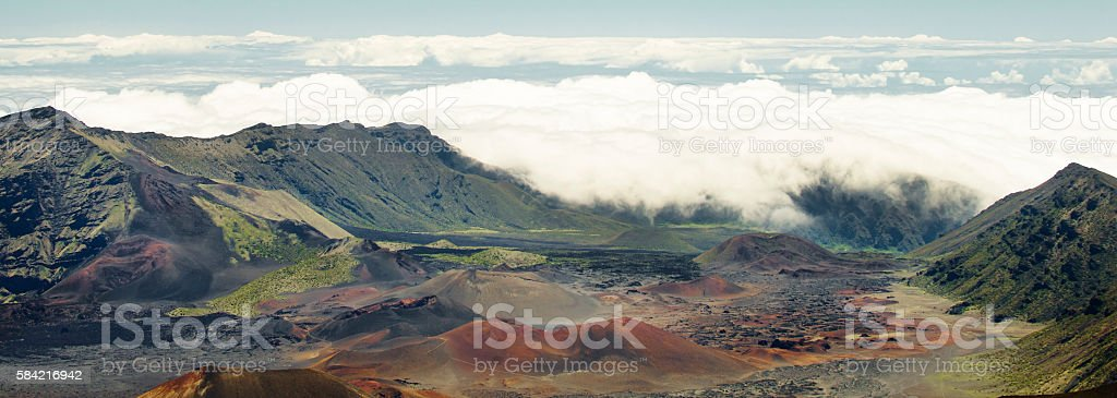 Haleakala Crater in Lahaina Hawaii stock photo