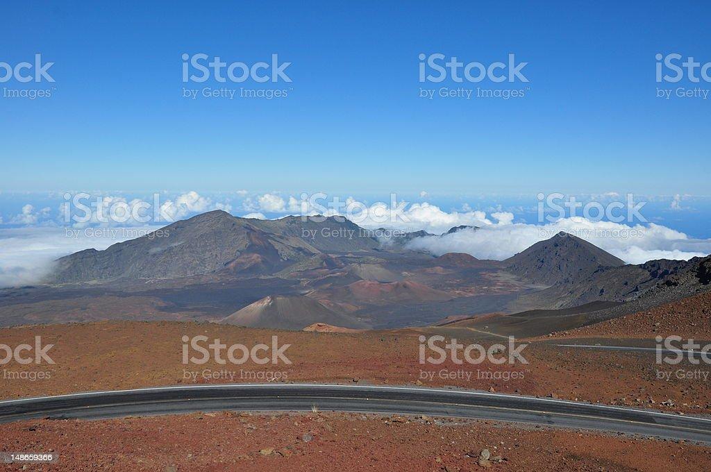 Haleakala Crater - Maui, Hawaii royalty-free stock photo