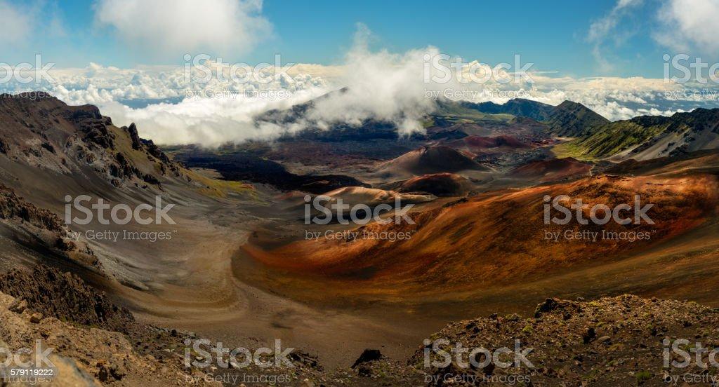 Haleakala Crater on Maui, Hawaii stock photo