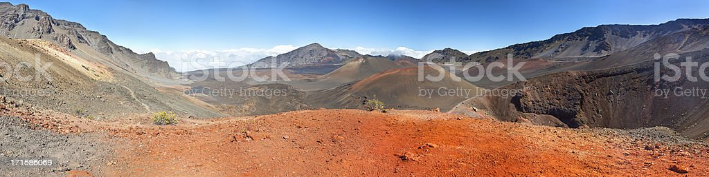Haleakala Crater Panorama, Maui stock photo