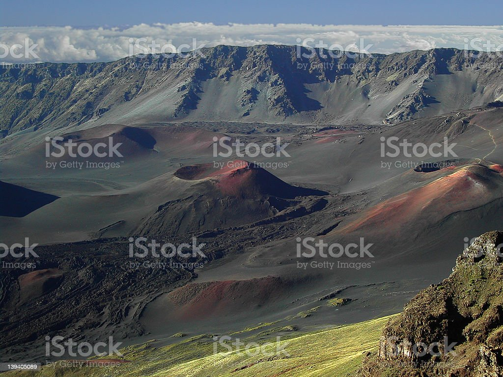Haleakala Crater stock photo