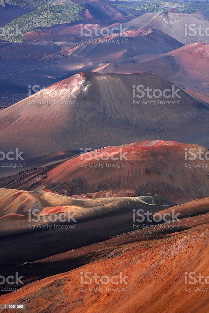 Haleakala Crater stock photo