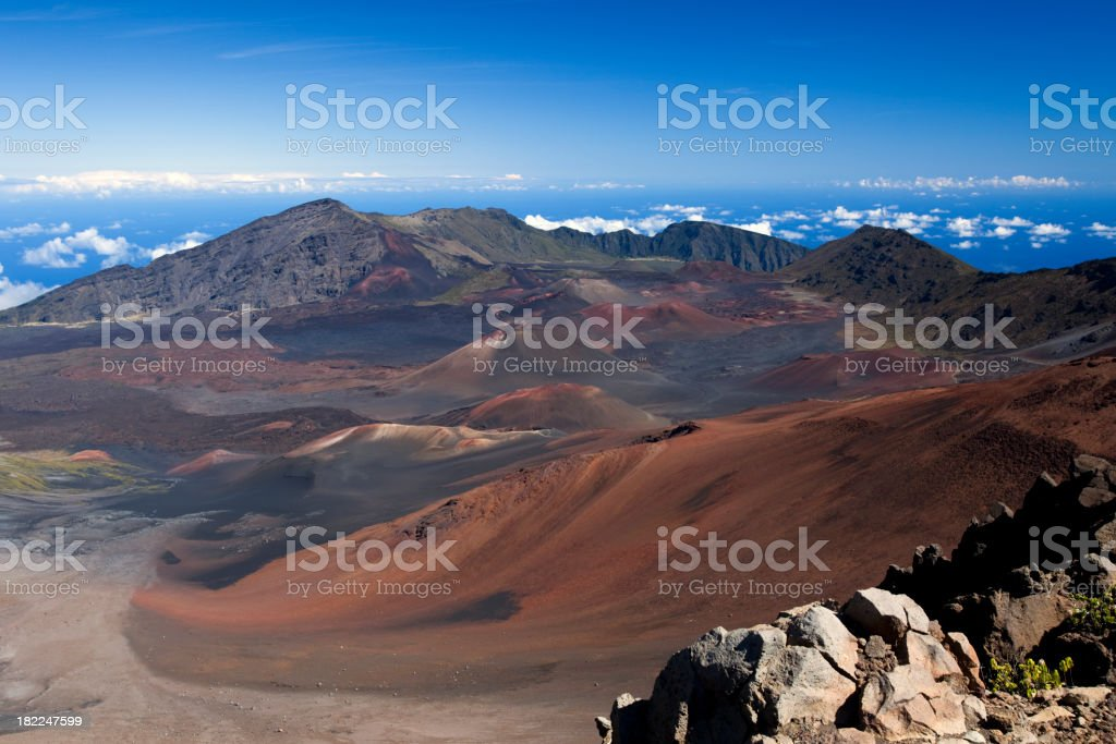 Haleakala Crater royalty-free stock photo