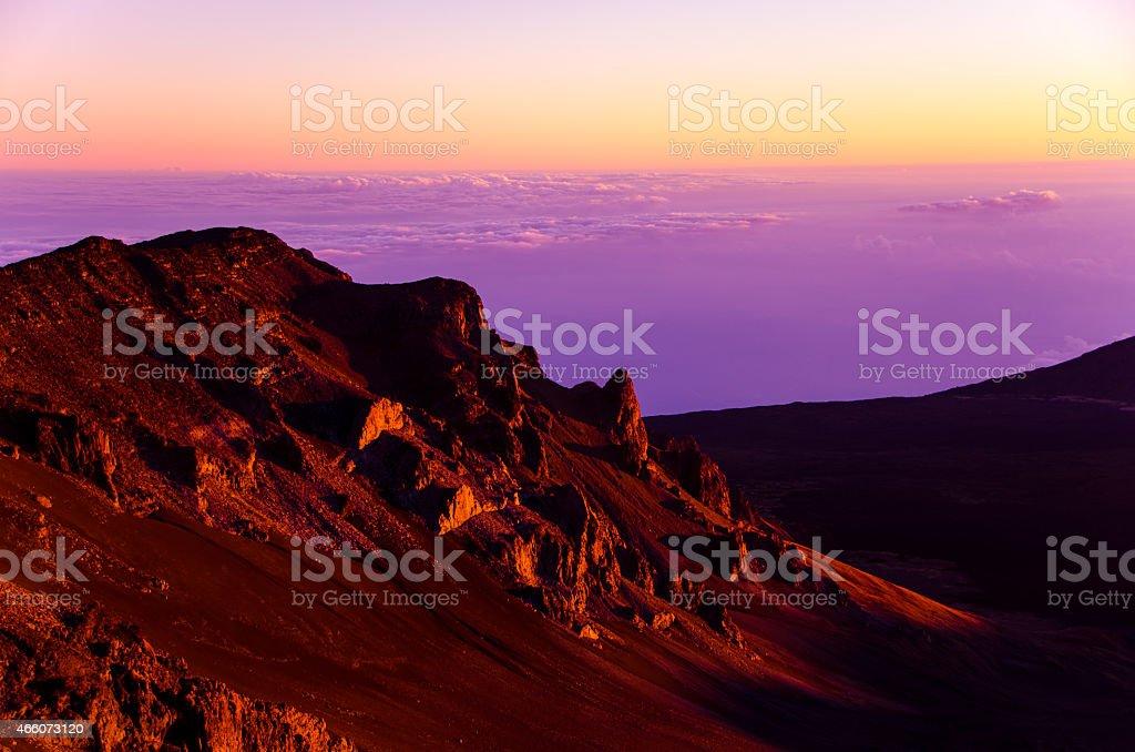 Haleakala Crater Sunrise stock photo