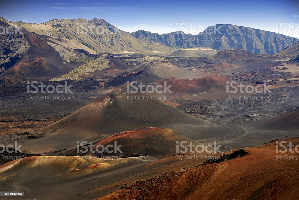 Haleakala Crater / Volcano royalty-free stock photo