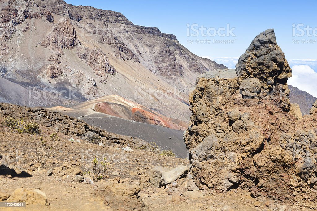 Haleakala Craters And Lava Formations, Maui royalty-free stock photo