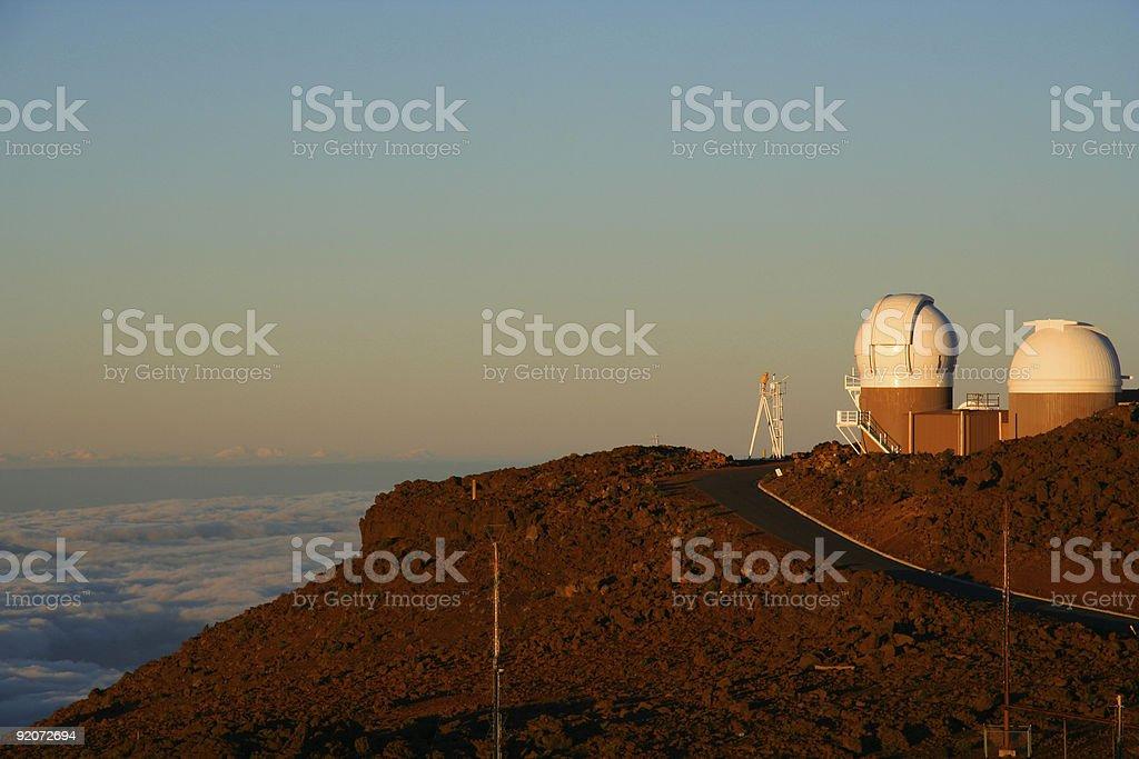 Haleakala High Altitude Observatory stock photo