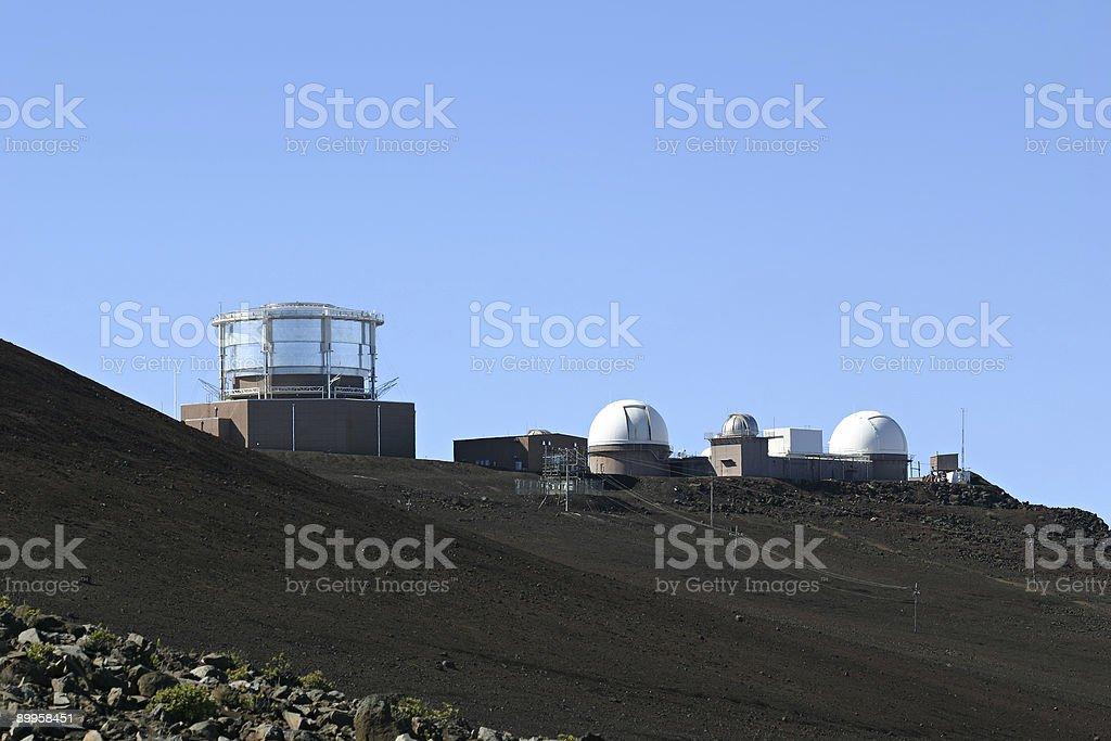 Haleakala High Altitude Observatory Site royalty-free stock photo