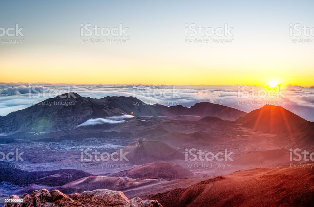 Haleakala - Maui, Hawaii stock photo