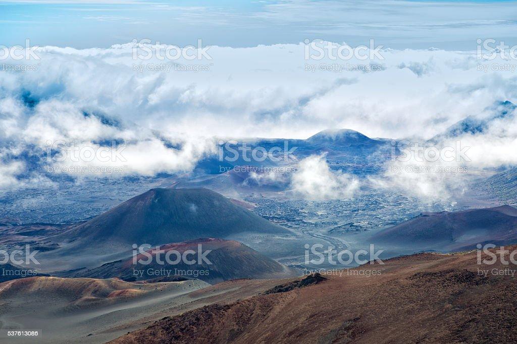Haleakala National Park Crater in Maui Hawaii stock photo