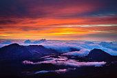 Haleakala National Park Crater Sunrise in Maui Hawaii