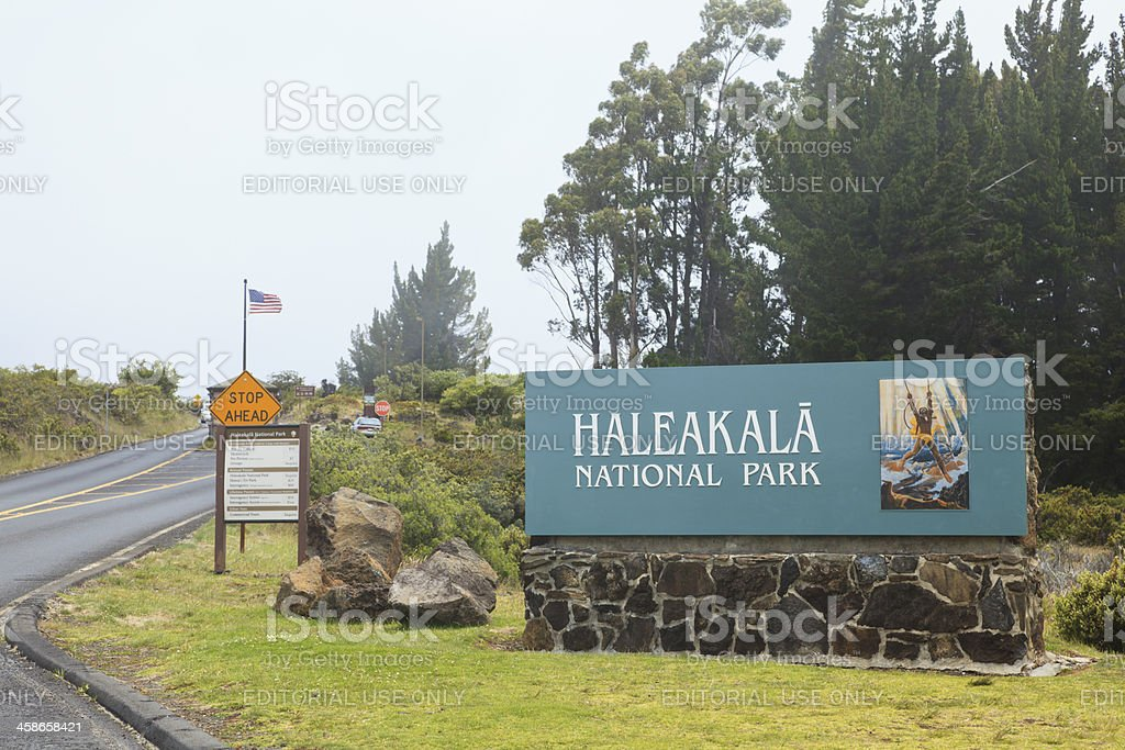Haleakala National Park entrance, Maui, Hawaii royalty-free stock photo
