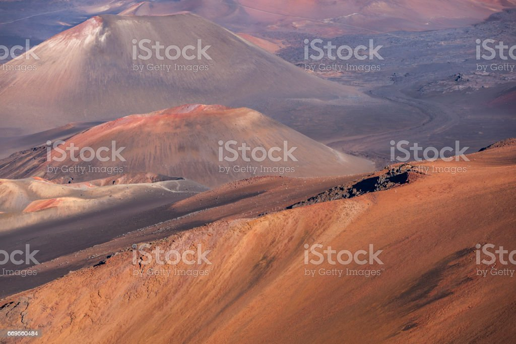 haleakala national park, maui, hawaii islands stock photo