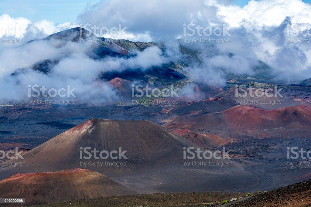 Haleakala national park on Maui stock photo