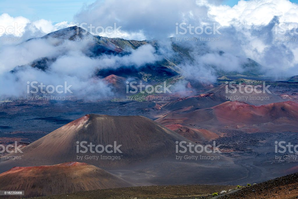 Haleakala national park on Maui stock photo