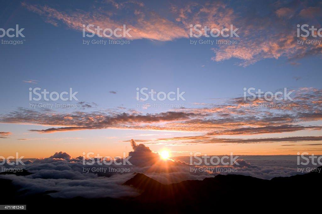 Haleakala Sunrise stock photo