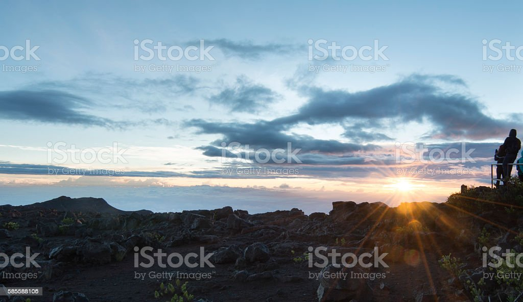 Haleakala Sunrise stock photo