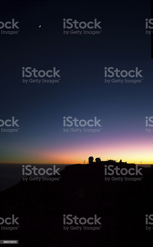 Haleakala Sunset royalty-free stock photo