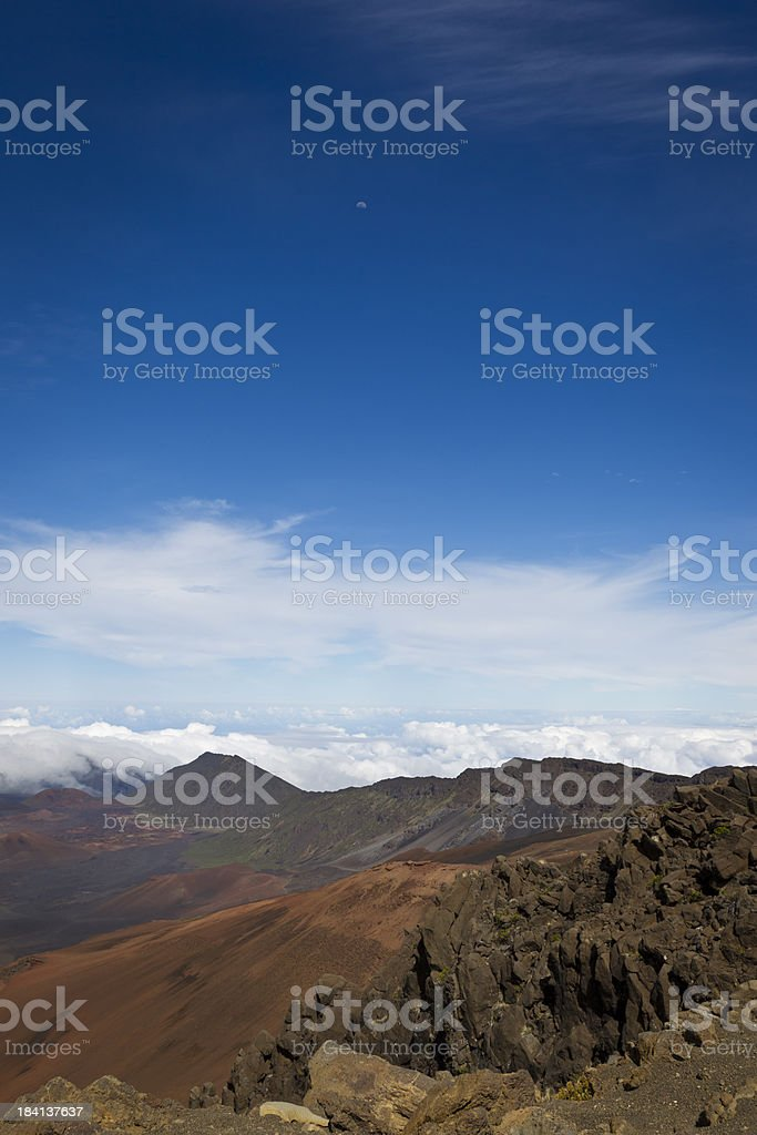 Haleakala Volcano Landscape, Maui, Hawaii, USA royalty-free stock photo