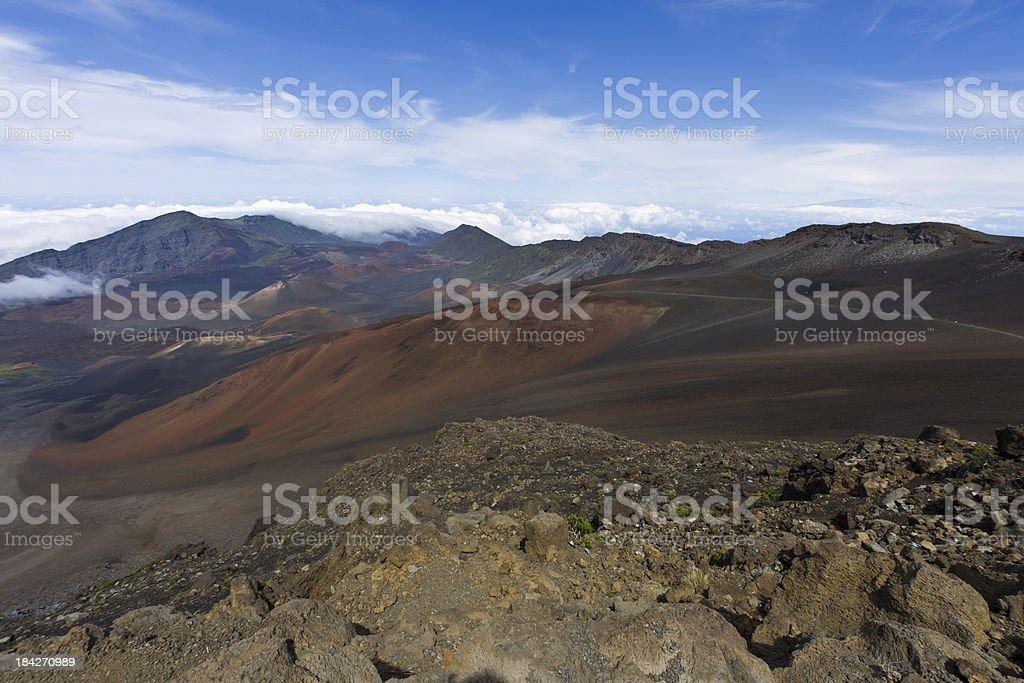 Haleakala Volcano Landscape, Maui, Hawaii, USA royalty-free stock photo
