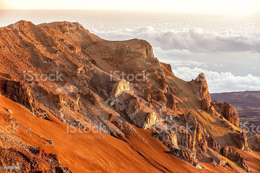 Haleakala volcano stock photo