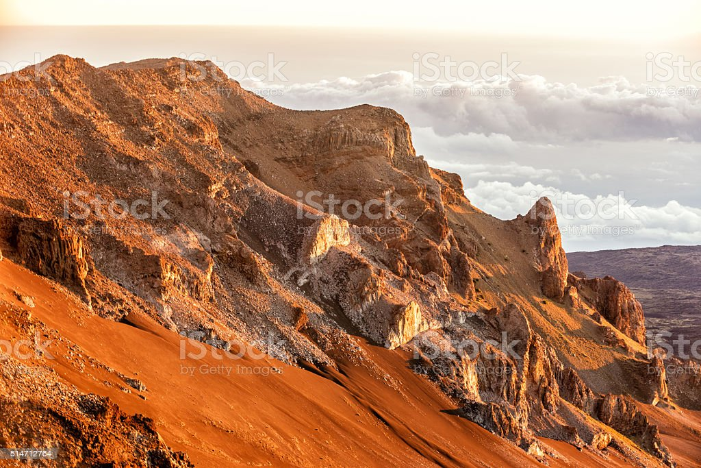Haleakala volcano stock photo