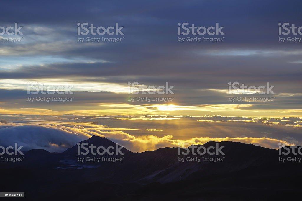Haleakala Volcano Sunrise royalty-free stock photo