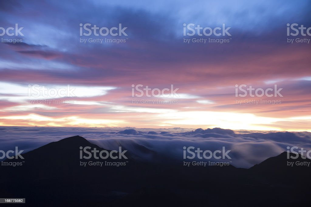 Haleakala Volcano Sunrise royalty-free stock photo