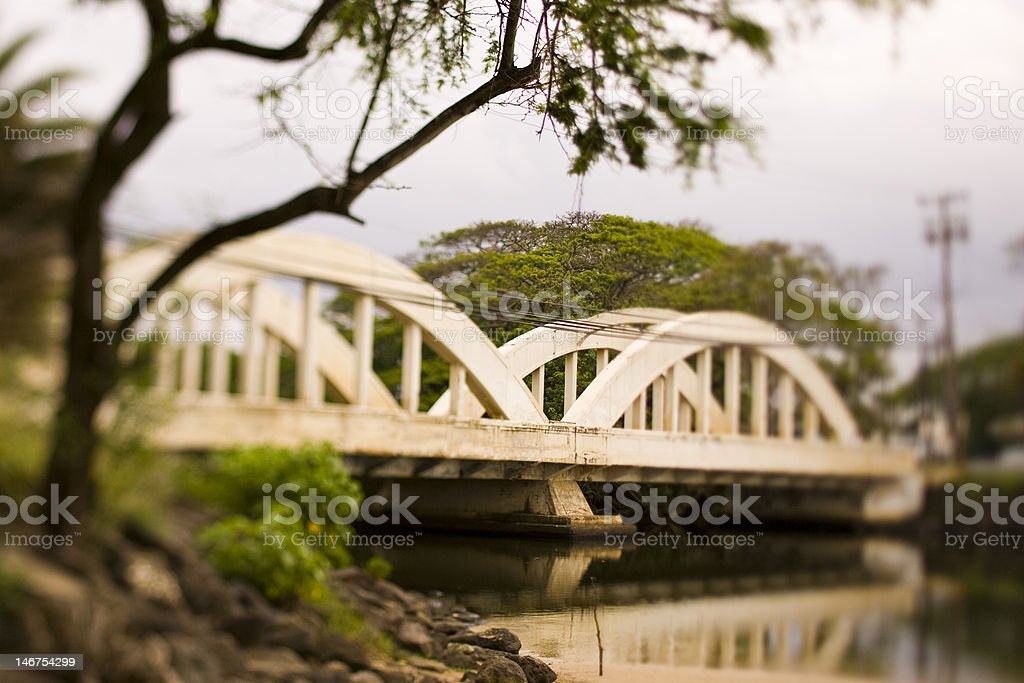 Haleiwa bridge stock photo