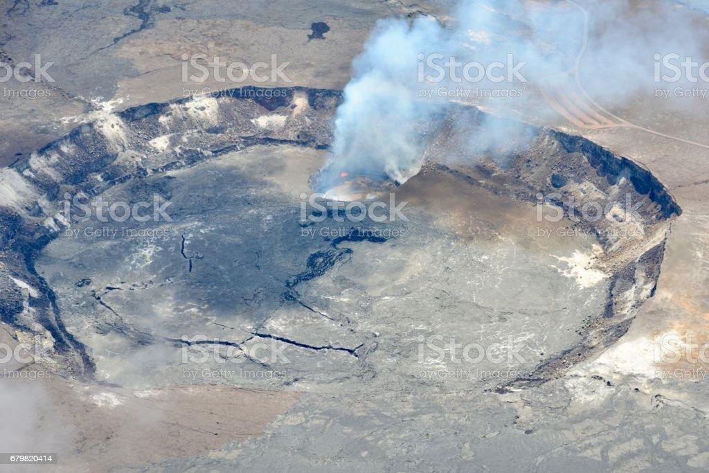 Halemaumau Crater, Kilauea Volcano stock photo