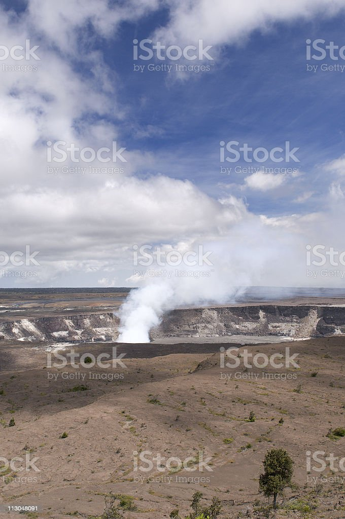 Halemaumau Crater of the Kilaeua volcano, Big Island, Hawaii stock photo