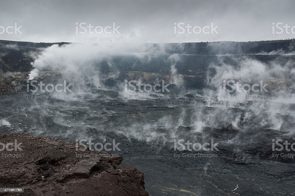 Halemaumau Crater royalty-free stock photo