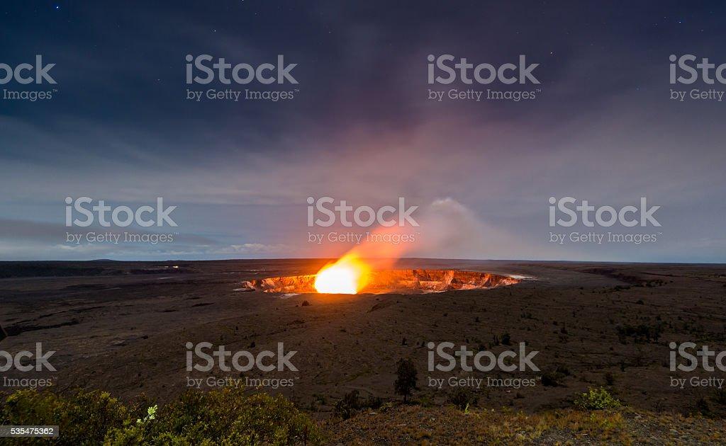 Halemaumau Crater stock photo
