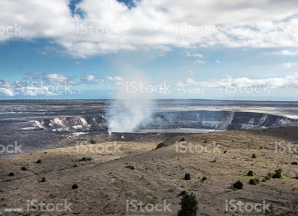 Halem'uma'u Crater Hawaii stock photo