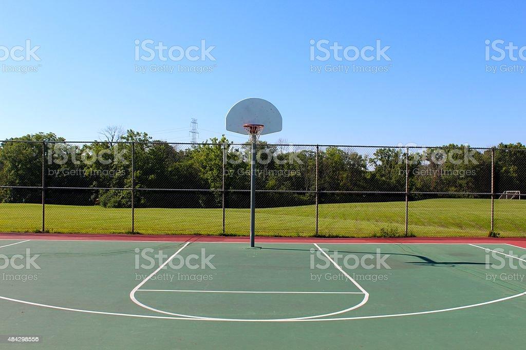 Half a Basketball Court stock photo
