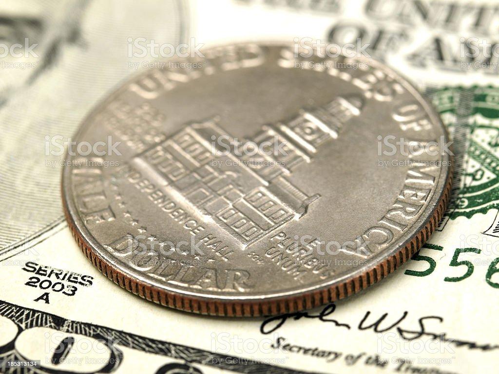 Half a dollar coin stock photo