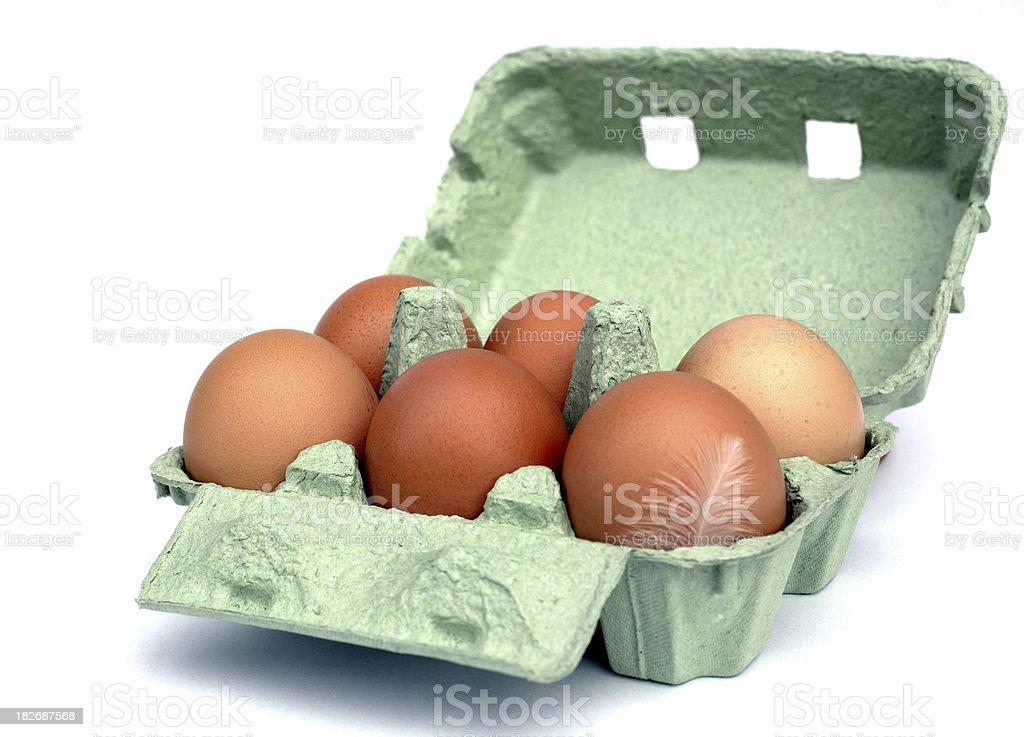 Half a dozen eggs royalty-free stock photo