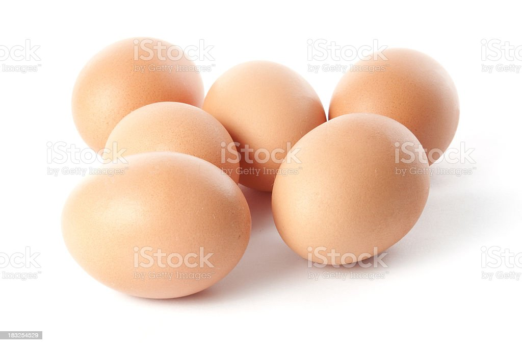 Half a Dozen Eggs royalty-free stock photo