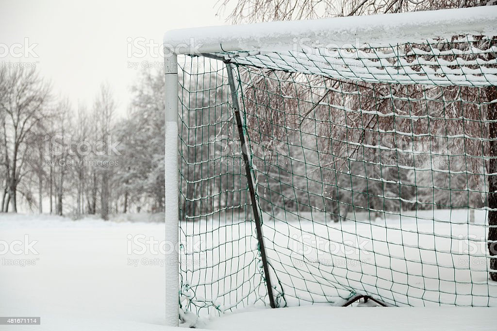 Half a goal royalty-free stock photo