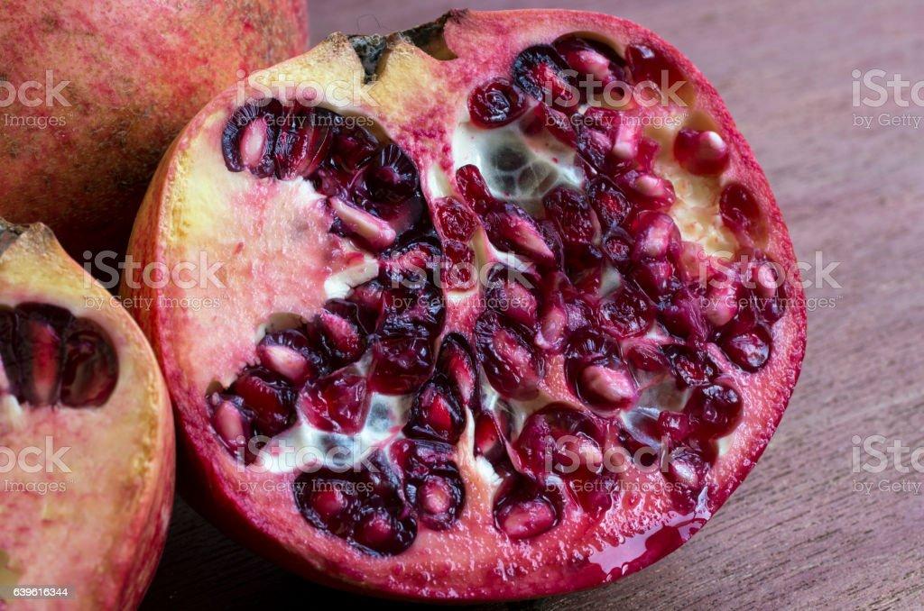 Half a Pomegranate stock photo