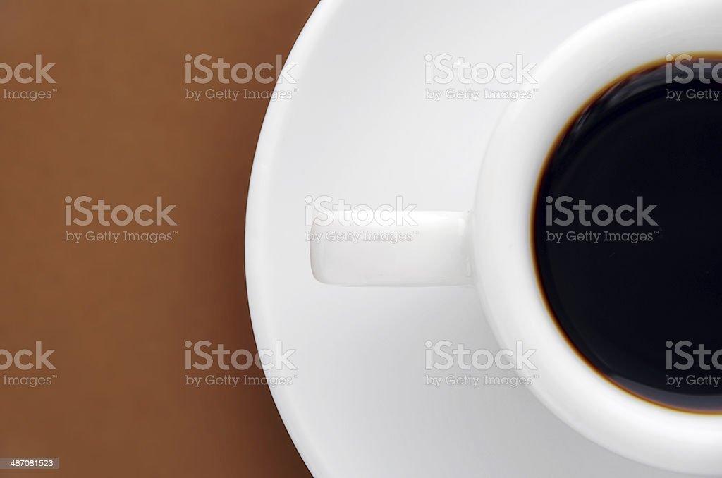 half an espresso royalty-free stock photo