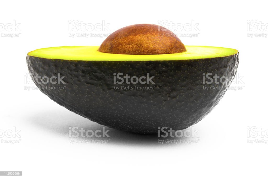 Half avocado stock photo