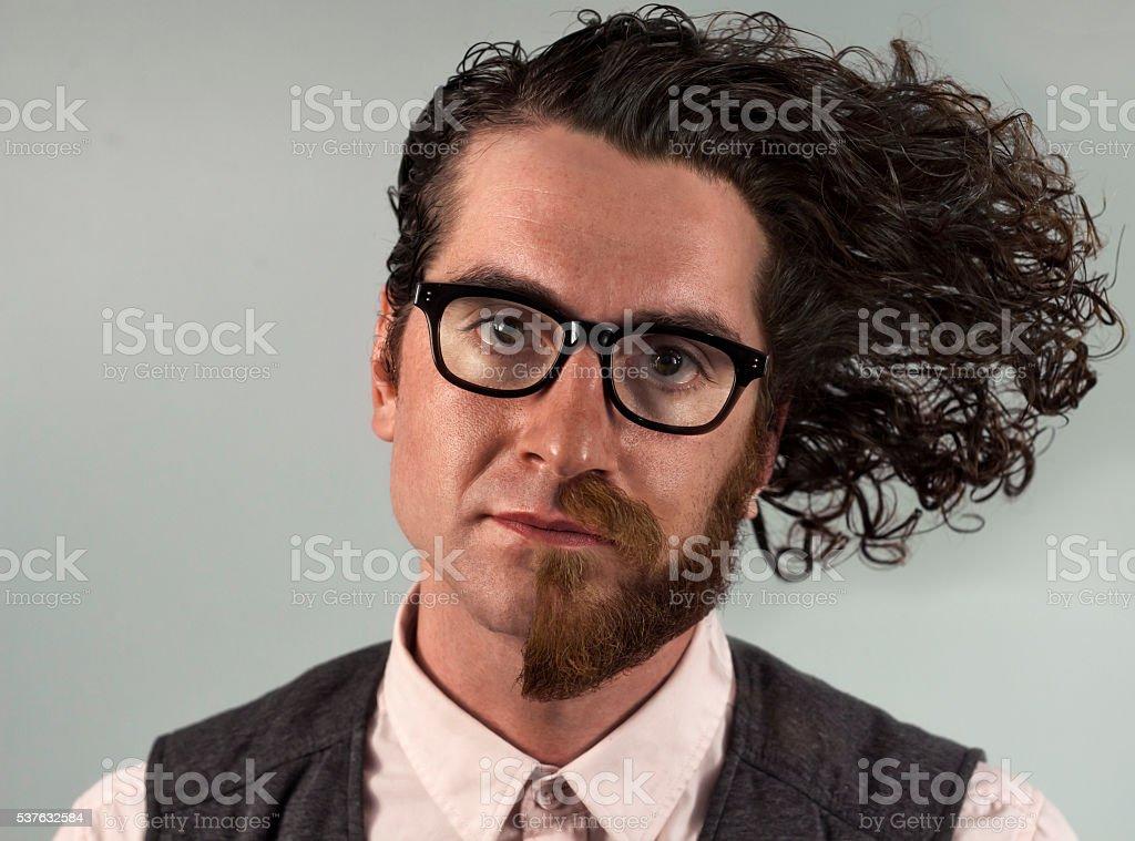 Half Beard Split stock photo