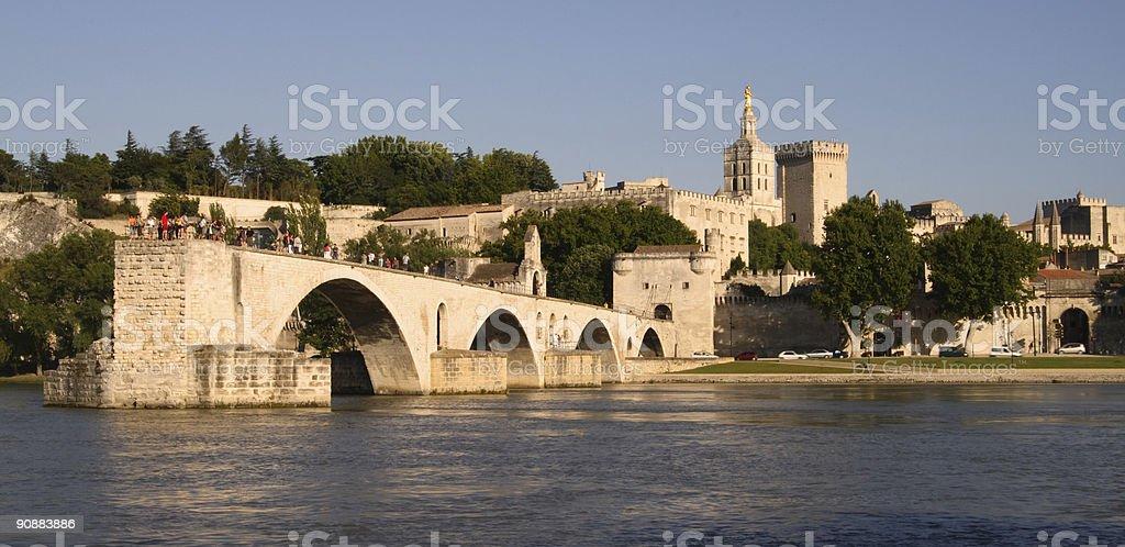 Half Bridge of Avignon Sunset royalty-free stock photo