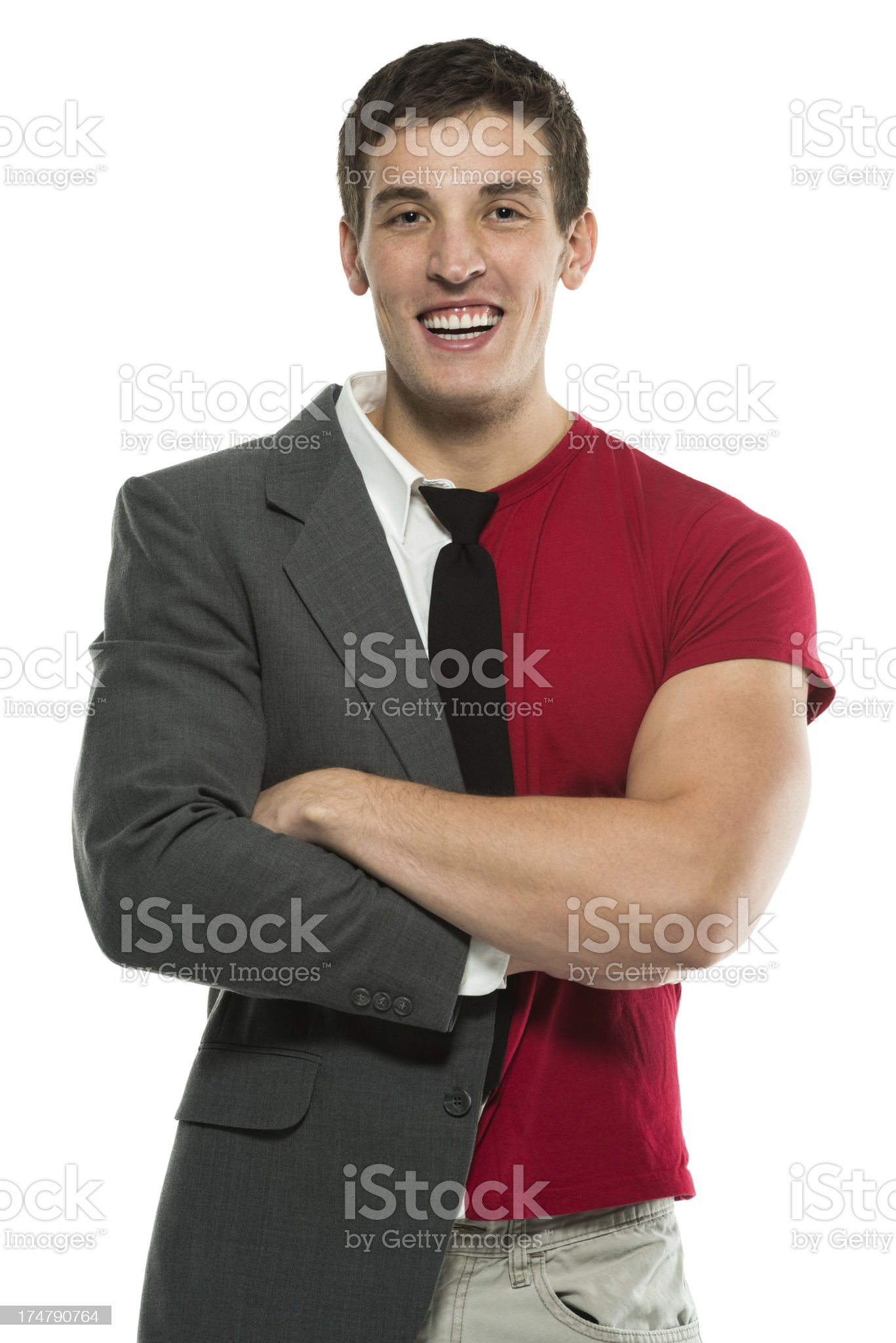 Half Business / Casual royalty-free stock photo