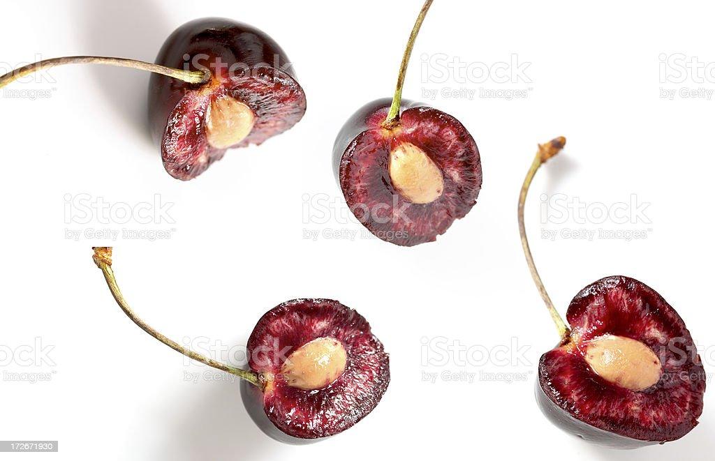 Half Cherries composition stock photo
